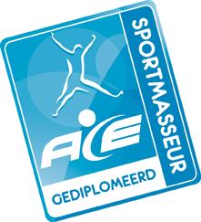 Logo ACE gediplomeerd sportmasseur web